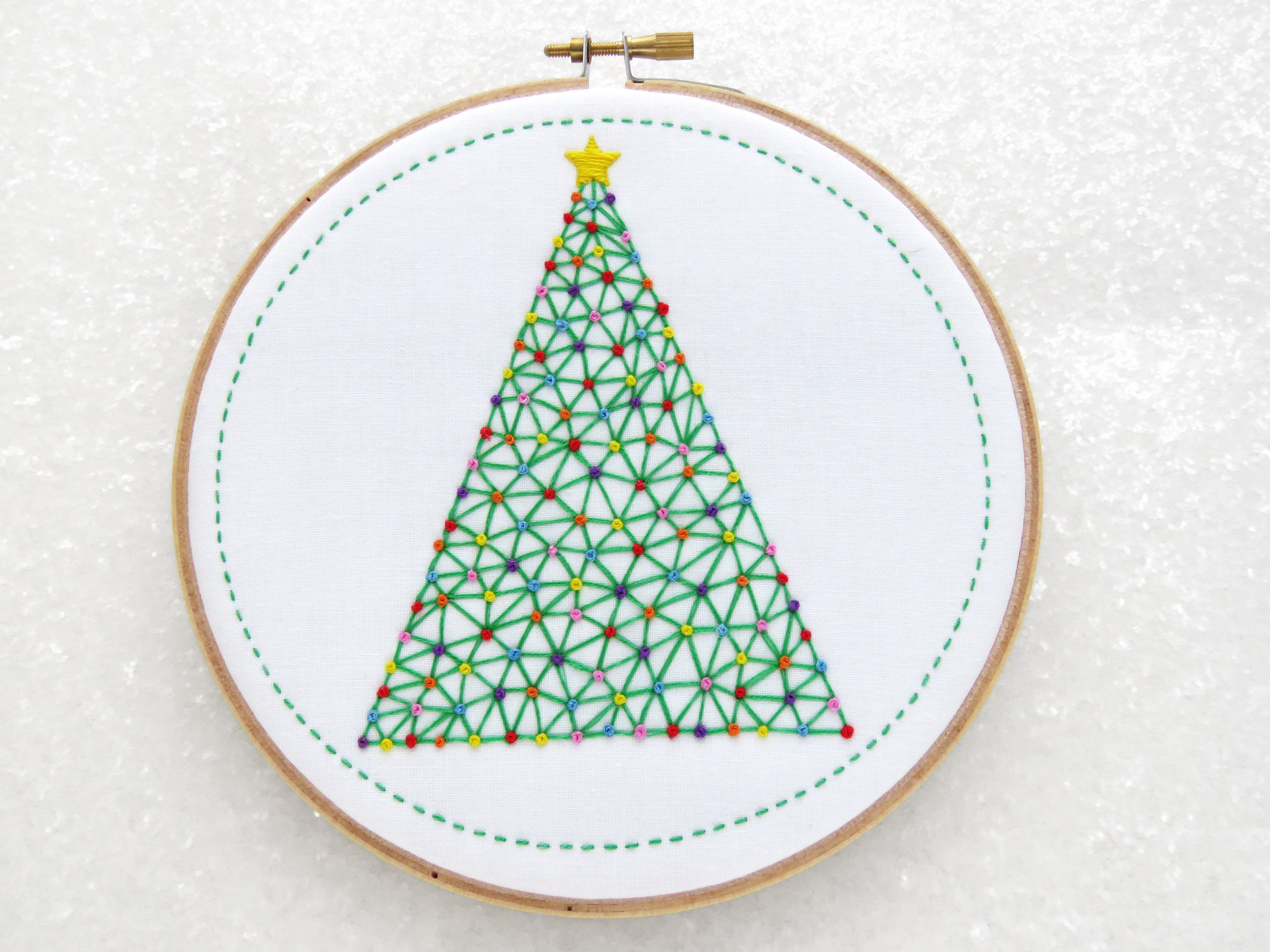 Christmas tree embroidery pattern diy christmas gift zoom bankloansurffo Choice Image
