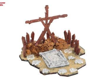 "Wargaming terrain - ""Shrine"" - terrainfor Malifaux, Hordes, Age of Sigmar, miniature building"