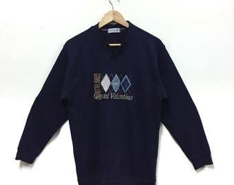 Rare!!! Gianni Valentino Sweatshirt Big Logo Embroidery