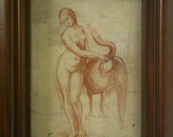 Old Italian Master Leda and Swan Leonardo da Vinci school