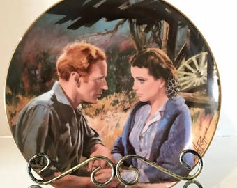 Ashley and Scarlet After the War collectible  Gone with the Wind Fine China Plate