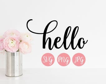 Hello PNG, SVG, Cutting file, JPEG, Cricut Explore