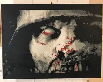 Zombie from COD call of duty spray painted original  wall art graffiti art