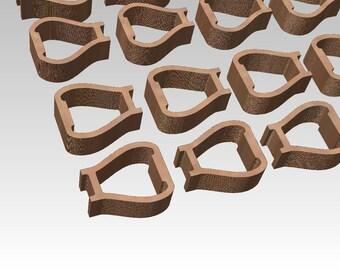 RESERVED Item for Cesar D. 6-04-17 miniature wood stirrups
