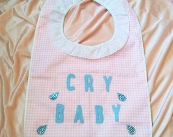 Cry Baby Handmade bib