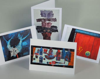 Fine Art Painting Blank Card Set of 4