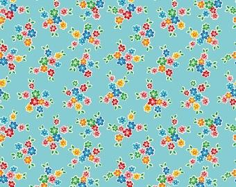 Riley Blake Arbor Bouquet  Cotton Quilting Fabric Aqua