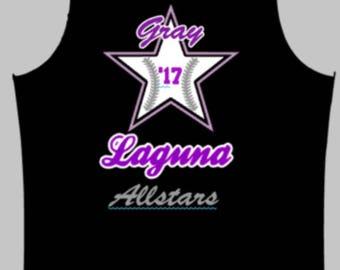 Laguna Gray Allstar tank *front only*