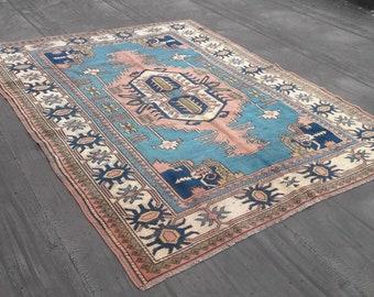 Vintage Turkish Rug, Turkish Rug, Vintage Rug, Handspun Wool Rug, Nomadic Rug, Tribal Rug, Turkish Carpet, Home Decor, Home Living, Rugs