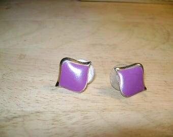 Purple Retro Earrings