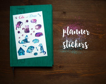 "Planner Stickers ""cats and dogs"""