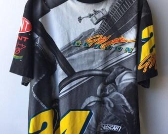 Vintage 90s 1998 Nascar jeff gordon perspective t-shirt size large