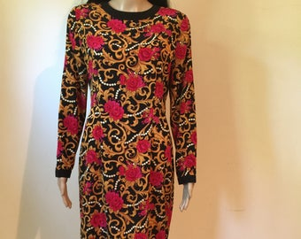 Vintage 80's Papell Boutique Dress. Size 8.