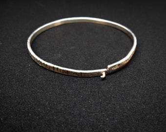Silver bracelet// hand made // solid silver// silver 925 // circle bracelet// woman bracelet