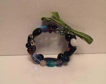 Mixed Bead Wire Bracelet