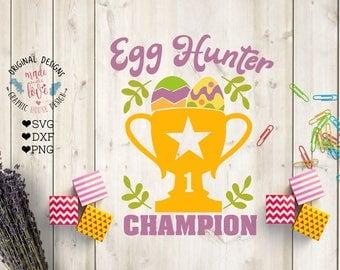 Easter Egg Hunter svg, Egg Hunter Champion Cut File in SVG, DXF, PNG, Easter eggs svg, Easter svg files, Easter cut files, Easter dxf files