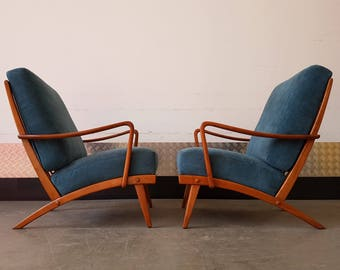 Set of Two Vintage Danish Armchairs from 1950's