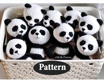 Panda pattern, Amigurumi panda pattern, Cute panda pattern, Crochet PATTERN, Panda Bear Amigurumi Toy, Stuffed Panda Bear Pattern