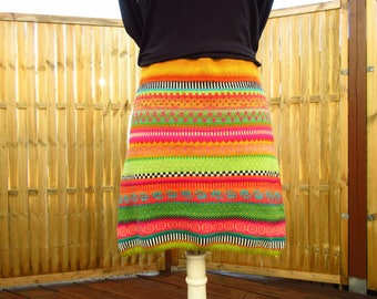 Colorful knit Skirt Joan Gr. m