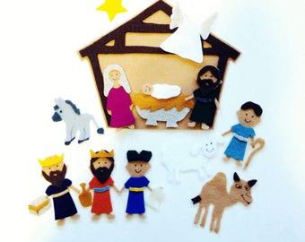 Nativity Scene Felt Storyboard Set