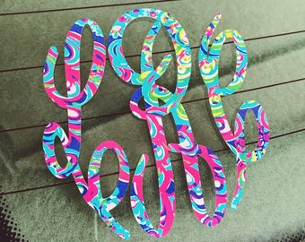 Lilly Monogram Lilly Pulitzer Monogram Lilly Empire Monogram Yeti Monogram Car Monogram