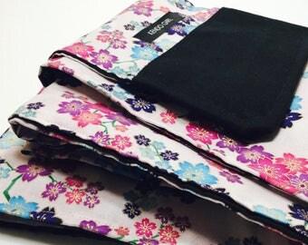 Sword Bag / Recycled Kimono in Bright Sakura