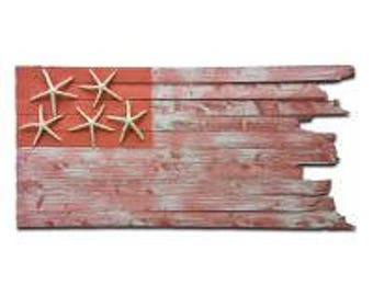Handcrafted Coastal Flag - Coral Reef