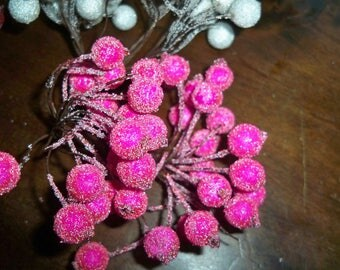 lots of small balls 10 frosted fuchsia color