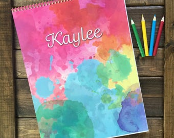 Kid's Personalized Sketchbook, Personalized Journal, Kid Journal, Personalized Gift, Kid Sketchpad