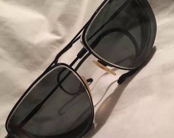 Vintage Marchon Model Preston Eyeglasses Frames Matte Black 58[]15 165 Aviator