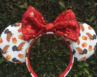 Dachshund Mouse Ears, Hot Dog Mouse Ears