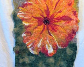 Titled: Spring  Handmade wool and silk tapestry