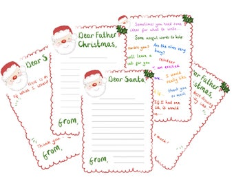 Letter to Santa Father Christmas with prompts