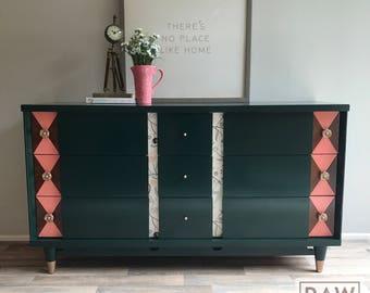 Mid-Century Modern 9-Drawer Dresser