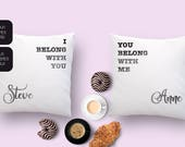 Customized pillow set wit...