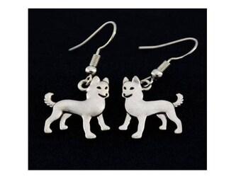 Husky Charm Earrings