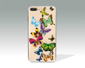 iPhone 6 Case Butterfly iPhone 7 Case Clear Rubber iPhone 5S Case iPhone 6s Plus Case iPhone SE Case Soft Silicone iPhone Case //113