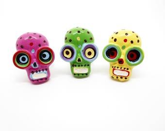 Rock ring - Sugar skull Katrina day of the dead Mexico