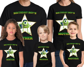 Monster University Custom Name & Age  Personalized Monster University Birthday Shirt Family Birthday Shirts