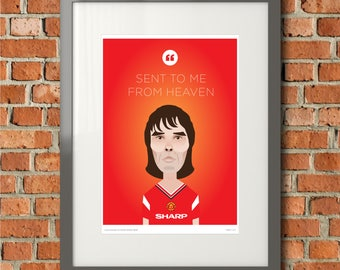 Ian Brown Sally cinnamon lyric Man Utd Framed Print