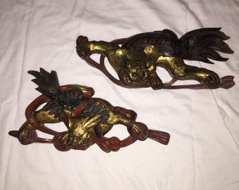 Vintage Chinese Dogs Wall Ornaments