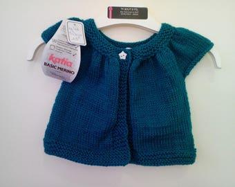 Bottle green short sleeve 3 month vest