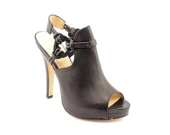 Calvin Klein Juliana Black Strap Sandals Ankle Booties Sz 7