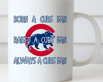 Cubs Fan Coffee Mug, Chicago Cubs Mug, Gift for Cubs Fan, Go Cubs Go, Fly the W