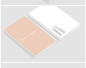 Business cards - Business card template - Business card  design - Custom business cards - Elegant blush pink business card template
