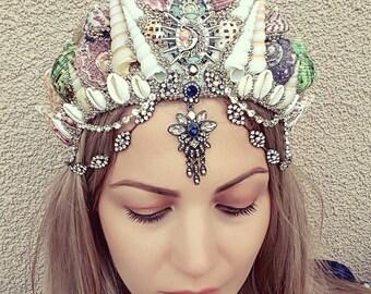 Bohemian Goddess Mermaid Crown