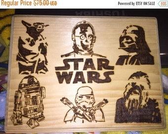 Star wars character theme woodburning