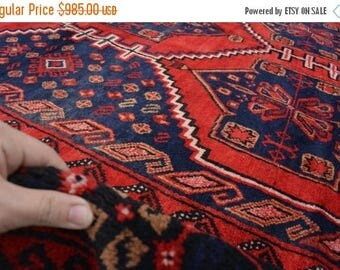 BIG SALE Hand Knotted Afghan Tribal Baluch area vintage rug, Baluch rug, Baluchi rug, Persian rug, Baluch rug, Turkish area rug, Baluch rug,