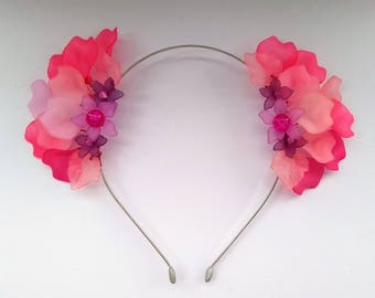 Pink Fairy Crown, Flower Hairband