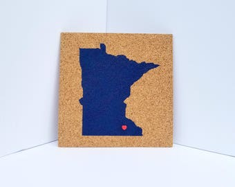 Cork Map of Minnesota! / MN Travel Corkboard / United States Pushpin Map / Pinnable Places I've Been